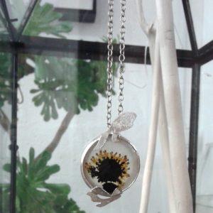 Marguerite-Sitthy-bijouterie-Paris-Blois-41-piece-unique-collier-pendentif-sunflower-agate-argent